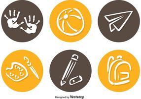 Förskolecirkel ikoner vektor
