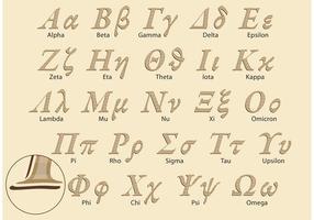Klassiskt grekiskt alfabetvektorpaket vektor