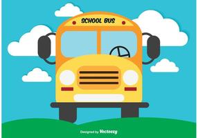 Gullig skolbuss vektor illustration