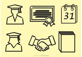 Vector Graduate Outline Ikoner