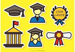 Bunte Graduate Vector Icons