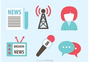 Neueste Nachrichten Icons Vektoren