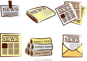 Tidningsvektorns ikoner