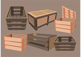 Versand Crate Vectors