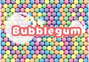 Färgglada Bubblegum Vector Bakgrund