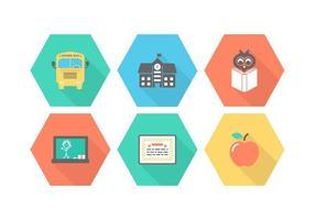 Freie Schule Vektor Icons