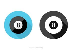 Gratis Flat Magic 8 Ball Vector Icon
