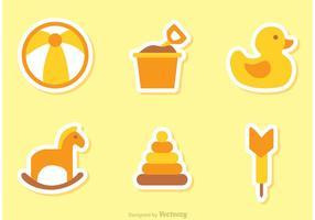 Barnleksaker Vector ikoner