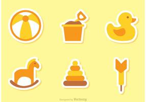 Kinder Spielzeug Vektor Icons