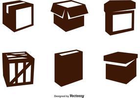 Paketvektorikoner vektor