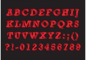 Schraube Schraube Schriftart vektor