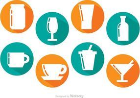 Långskuggade drinkar vektorer