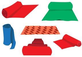 Teppich Rollen Vektor Set