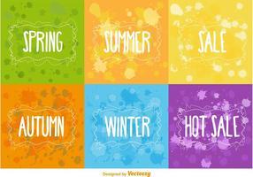 Saisonale und heiße Verkauf Vektor Hintergründe