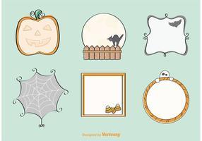 Dekorativa Handdragen Halloween Vektorer