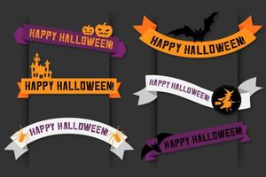 Lyckliga halloween vektor banderollband