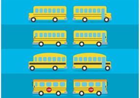 Vector skolbusspaket