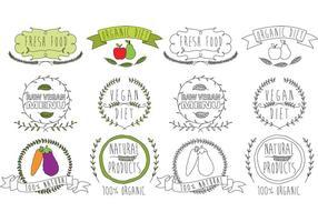 Natürliche Lebensmittel-Logo-Vektoren