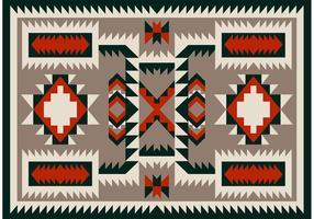 Navajo mönster mattan vektor design