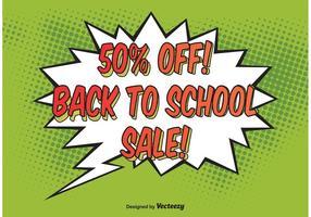 Comic-Stil Schule Verkauf Hintergrund Vektor