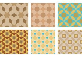 Marocko Motiv Mönstervektorer vektor