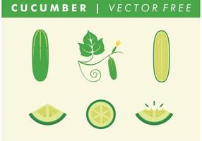 Vektorfreie Gurken vektor