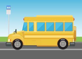 Gratis vektor skolbuss