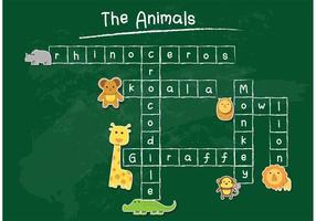 Tafel Vektor Kreuzworträtsel