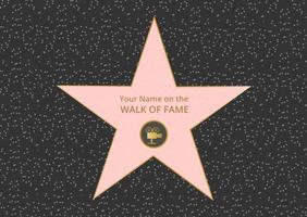 Kostenlose Hollywood Walk Of Fame Vektor