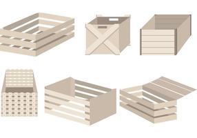 Einfache Crate Vector Designs