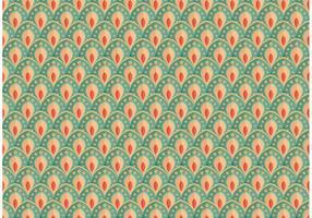 Hübscher Pfau-Muster-Vektor