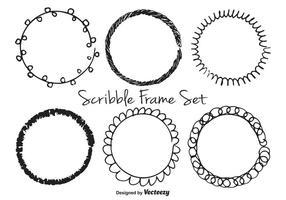 Scribble frame set vektor