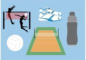 Volleyball Gericht Vektor Icons