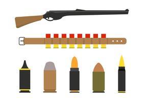 Schrotflintenschalen und Gewehrvektoren vektor