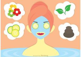 Mädchen mit Gesichtsmaske Vektor