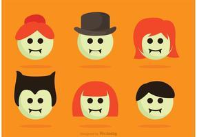 Tecknad Dracula Family Vector