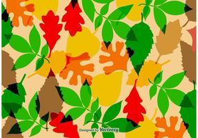 Herbstliche Blätter Vektor Textur