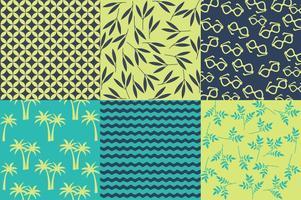 Vår och sommar strand mönster vektorer
