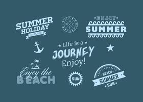 Beach Summer Adventure Vector Etiketter