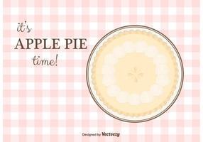 Apfelkuchen Vektor Hintergrund