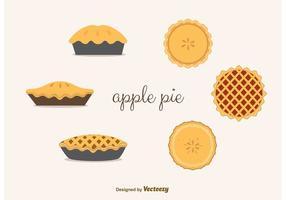 Apfelkuchen Vektoren