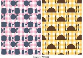 Freie Küchenutensilien Vektor Muster