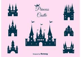 Prinsessans slott vektor uppsättning