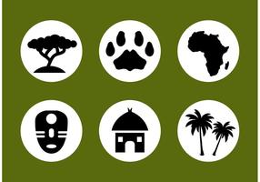 Afrikanischen Vector Icon Set