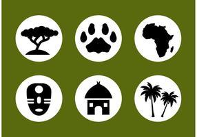 Afrikansk vektor ikonuppsättning