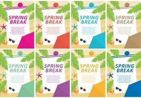 Spring Break Vector Vorlagen