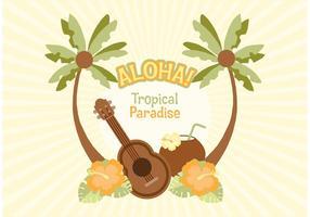 Freie hawaiische vektorabbildung