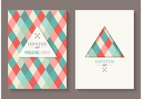 Gratis Hipster Magazine Omslag Vector