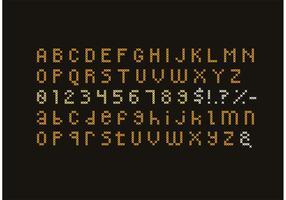Korsstygn alfabet set vektor