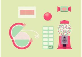 Gummi-Pakete kostenlos Vektor